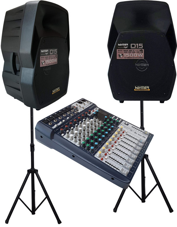 Aktive PA Anlage + Soundcraft  Signature 10